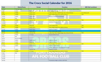 Crocs Social Calendar 2016