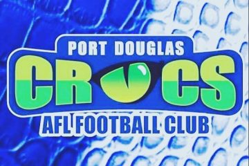 Port Douglas Crocs Logo Blue