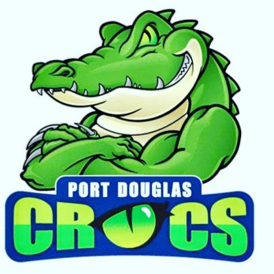 Port Douglas Crocs Logo green croc